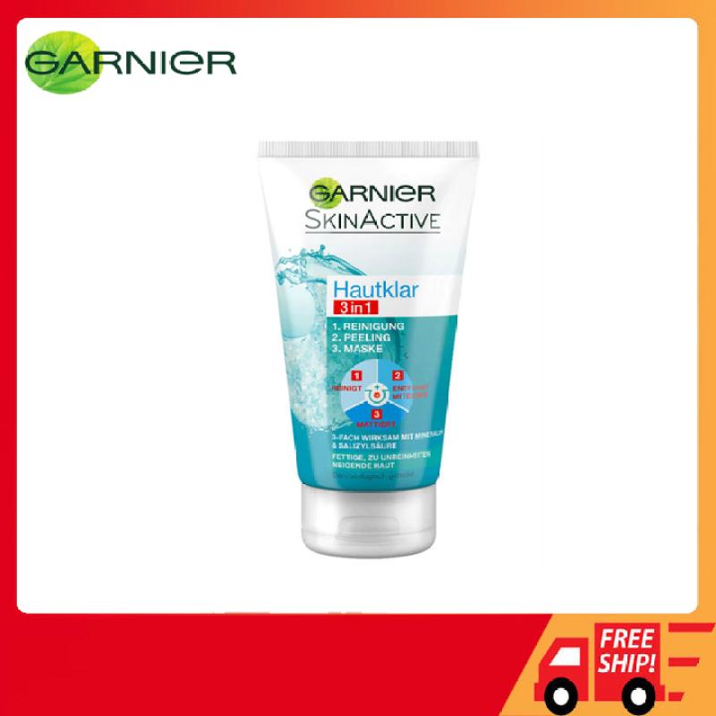 Sữa rửa mặt Garnier Skinactive Hautklar Tonerde 3in1 Đức 150ml