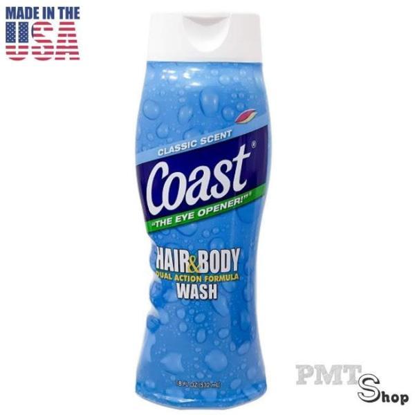 [USA] Dầu tắm gội nam 2in1 Coast Hair & Body Wash Classic Scent chai 532ml mẫu mới - Mỹ