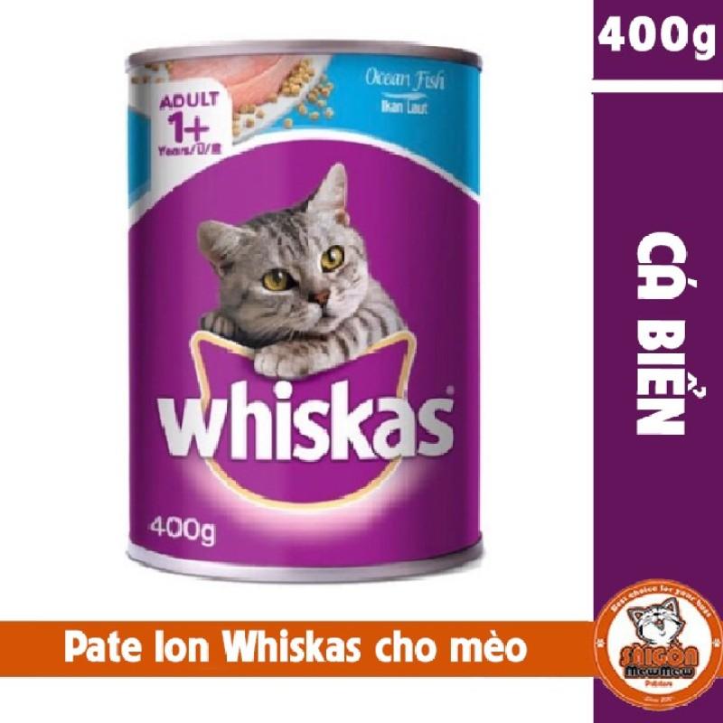 Pate lon Whiskas cho mèo 400g vị cá biển
