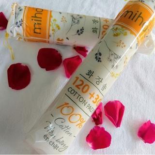 Bông tẩy trang MIHOO cao cấp- bông trang điểm ép viền chất liệu hoàn toàn tự nhiên an toàn cho da, túi 150 ps thumbnail