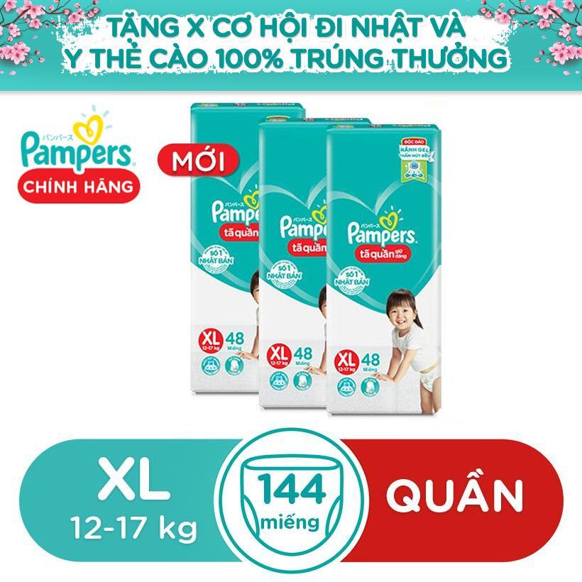 Combo 3 Gói Tã Quần Giữ Dáng Pampers Mới Gói đại  XL48 Đang Giảm Giá
