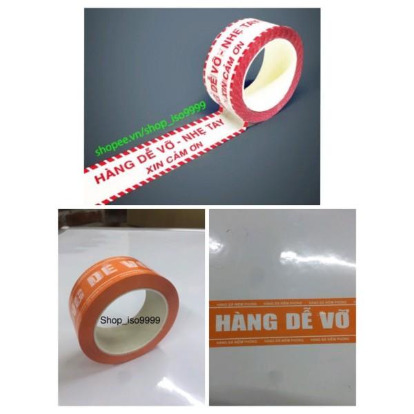 """Mua Băng dính niêm phong hàng hoá,băng keo in chữ """"Hàng Dễ Vỡ"""" (màu cam )"""