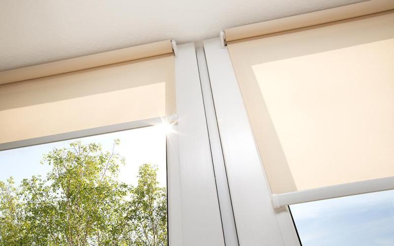 (Video Hướng Dẫn Lắp) Rèm Cuốn Chắn Nắng Cao Cấp Curtain Rolling - Rèm Cuốn Dùng Cho Văn Phòng Màu Cam