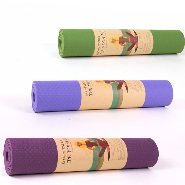 Bảng giá Thảm tập gym và yoga TPE 2 lớp đủ màu, thảm tập yoga tpe 2 lớp 6mm cao cấp, chất liệu an toàn khi tiếp xúc với da,