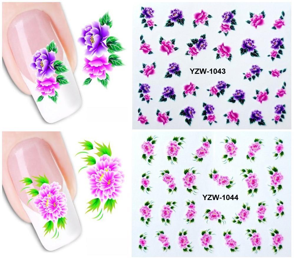 Set 2 hình xăm nước dán móng (nail sticker) mã YZW1041-1060
