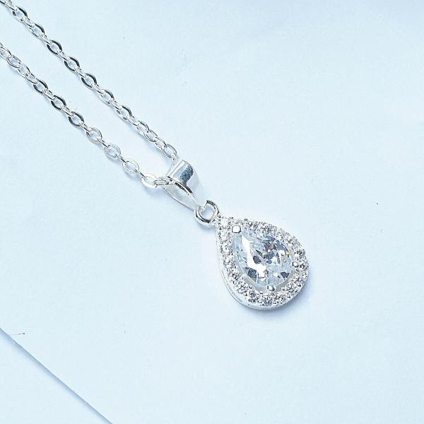 QMJ Dây chuyền bạc  Giọt nước 925 cao cấp  nạm đá tinh tế thiết kế độc lạ, thích hợp với cô nàng thích sự độc và lạ trang sức thời trang nữ đẹp - QKL0441