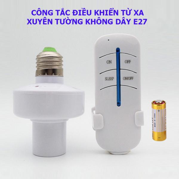 Bảng giá Đui đèn điều khiển bật tắt từ xa E27, đuôi đèn điều khiển bật tắt từ xa E27 màu trắng