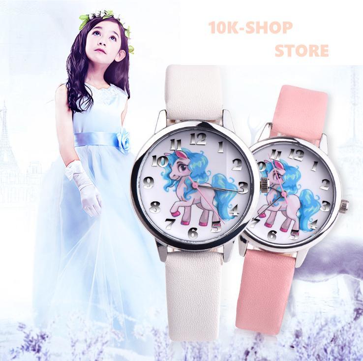 Giá bán Đồng hồ bé gái hình ngựa PONY siêu dễ thương,hàng đẹp như hình (hồng phấn )