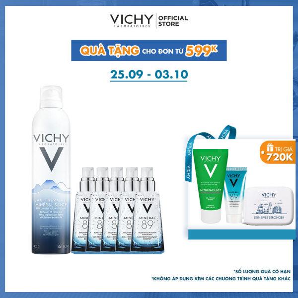 Bộ xịt khoáng dưỡng da Vichy Mineralizing Thermal Water 300ML nhập khẩu