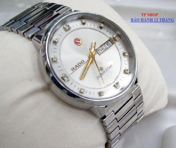 Đồng hồ Rado Silver Star 22k R.83472 Cơ lộ máy chạy tự động  Automatic  + Tặng Nhẫn 1 Chỉ Chữ Phúc { Đủ 2 màu vàng gold và trắng white }
