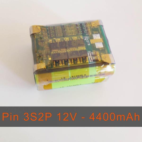 Pack PIN NATIONAL 12V LiShen 3S2P - dung lượng 4400mAh - Dòng xả 28A - Mạch bảo vệ và sạc cân bằng