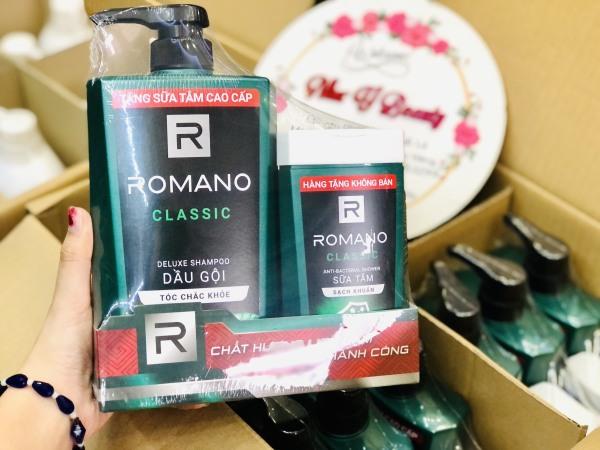 Combo Dầu gội Romano Classic 650g & Sữa Tắm