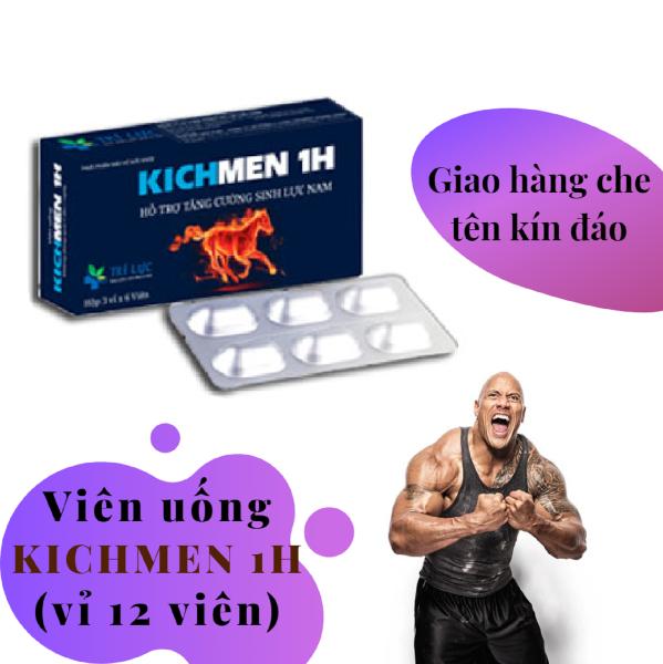Viên KICHMEN 1H (vỉ 12 viên) cao cấp tăng cường sinh lý nam mạnh mẽ - hàng chính hãng