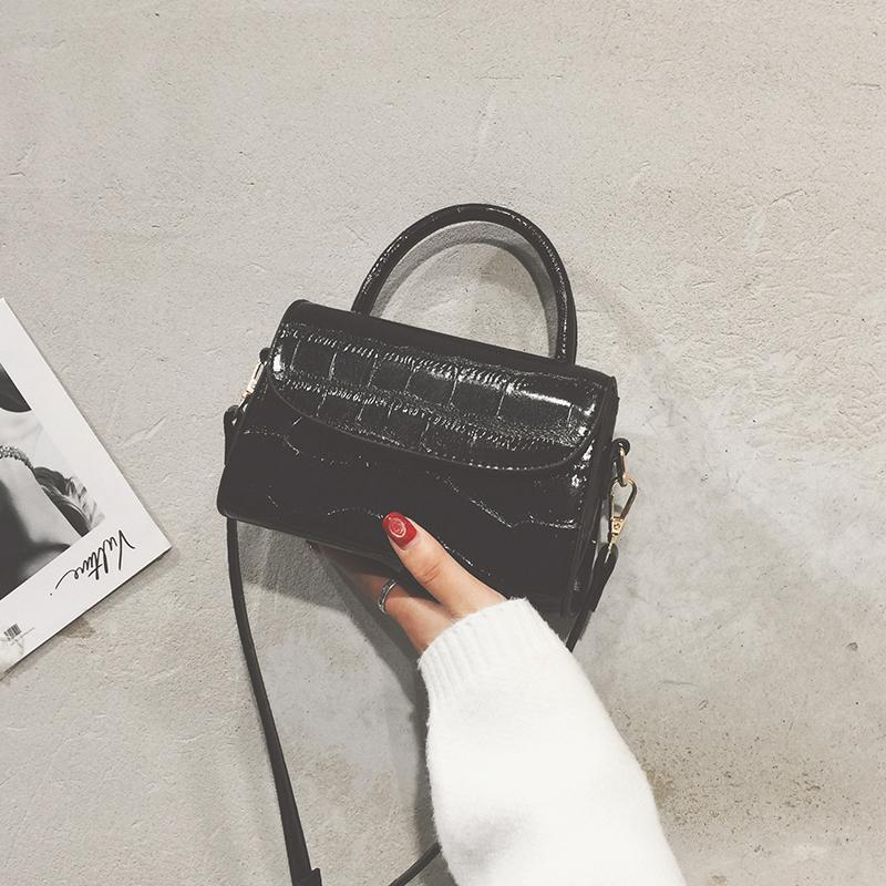 Crocodile Pattern Bags Womens Bag New Style 2019 Korean Style Versitile Fashion Over-the-shoulder Bag Simple Leisure Hand One-Shoulder Small Bag