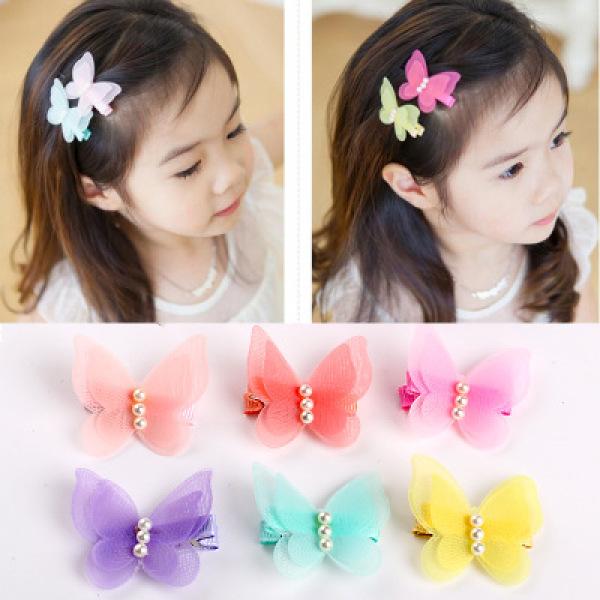 Giá bán Hot trend) Kẹp tóc hình bươm bướm cho bé gái.