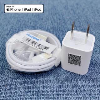 Bộ củ sạc và dây sạc iphone Lightning Zin theo máy Chuẩn Foxcom Dùng cho iphone các dòng từ 5 5s đến 11 PRO MAX thumbnail