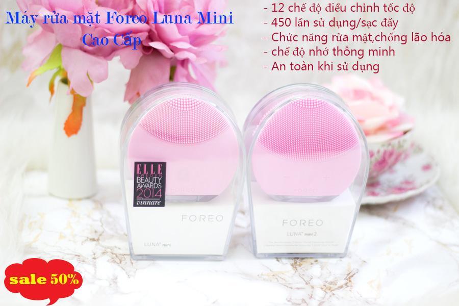 Máy rửa mặt Foreo Luna Mini Làm sạch da,trị mụn hiệu quả,thiết kế Nhỏ gọn dễ dàng sử dụng.cam kết hàng chất lượng.sale 50% Hàng uy tín BH 1 đổi 1