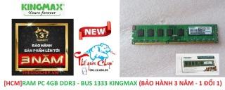 [HCM]RAM PC 4GB DDR3 - BUS 1333 KINGMAX (BẢO HÀNH 3 NĂM - 1 ĐỔI 1) thumbnail