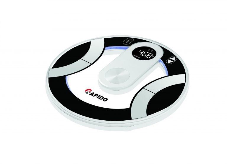 Cân sức khỏe, đo 8 chỉ số Rapido FG330L, kính cường lực, cảm ứng