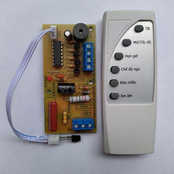 Bộ vỉ mạch quạt điều khiển từ xa cho quạt có kèm remote 2020 BẢN TIẾNG VIỆT 6 NÚT THIẾT KẾ HỆN DẠI LẮP ĐẶT DỄ DÀNG BẢO HÀNH UY TÍN 1 ĐỔI 1 - MACHQUAT-6NUT