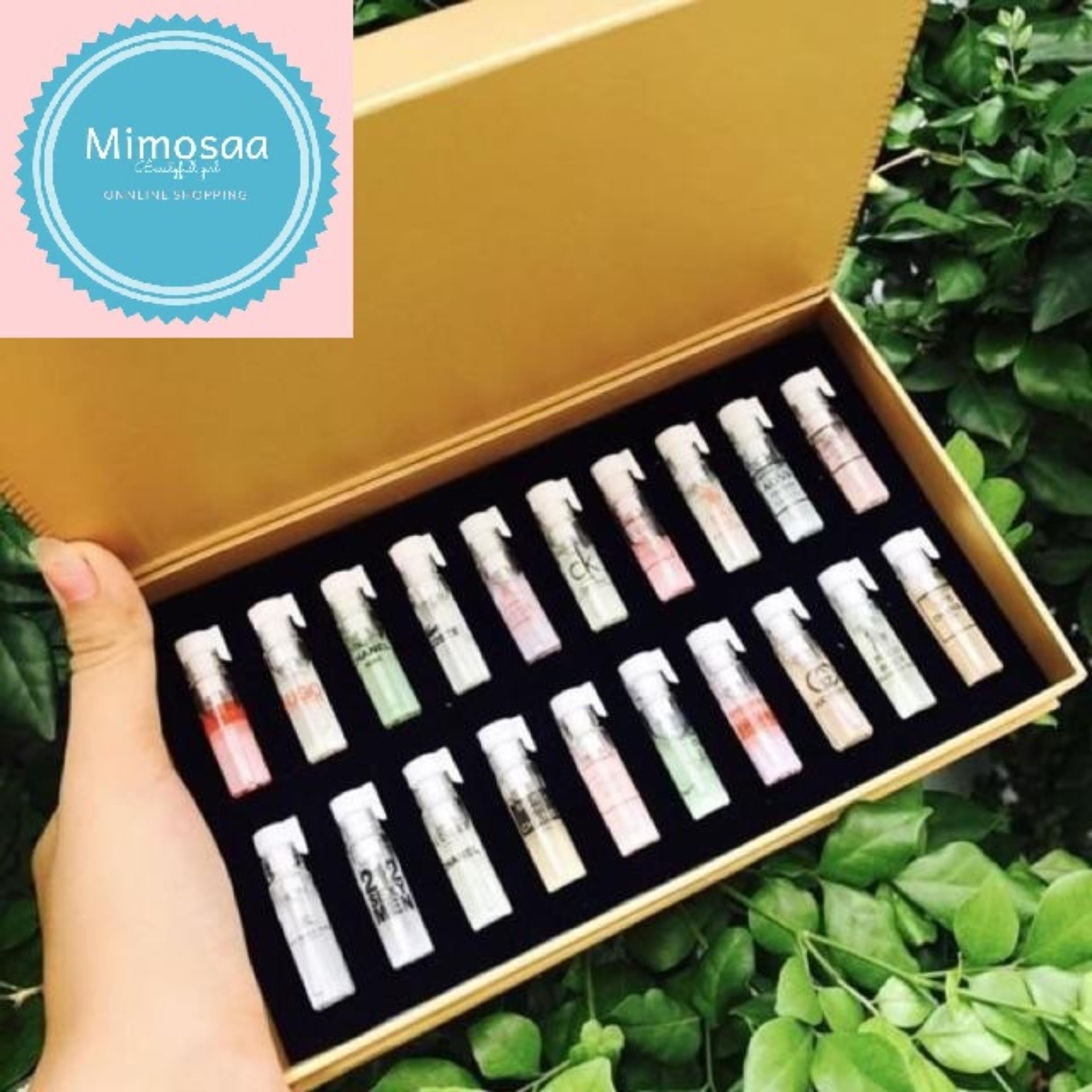 Bộ nước hoa 20 chai Pháp mini múi hương quyễn rũ nhiều mùi hương từ nhẹ nhàng trong trẻo cho đến nồng nàn quyến rũ hay mạnh mẽ cá tính cao cấp