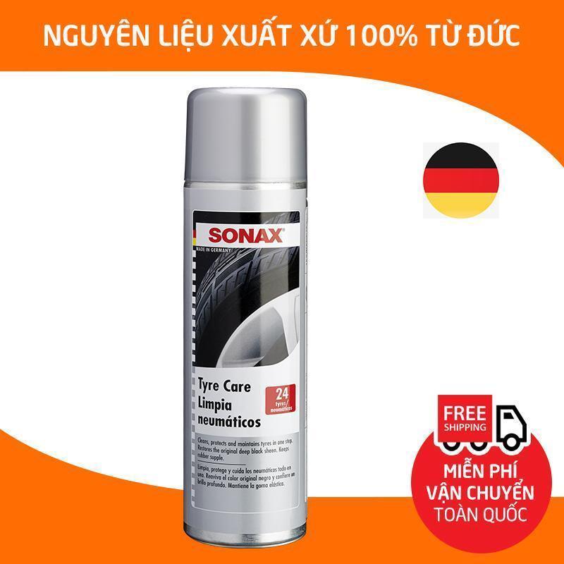 Sonax Tyre Care.Dung dịch làm sạch và bảo dưỡng lốp xe, ron cao su , bình xịt tạo bọt vệ sinh, làm bóng phục hồi màu đen lốp xe hơi, ô tô, xe tải, xe khách_SN-435300