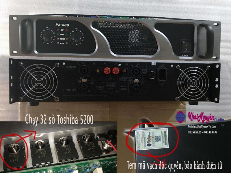 Cục đẩy PA-800 công suất 800w/1 kênh