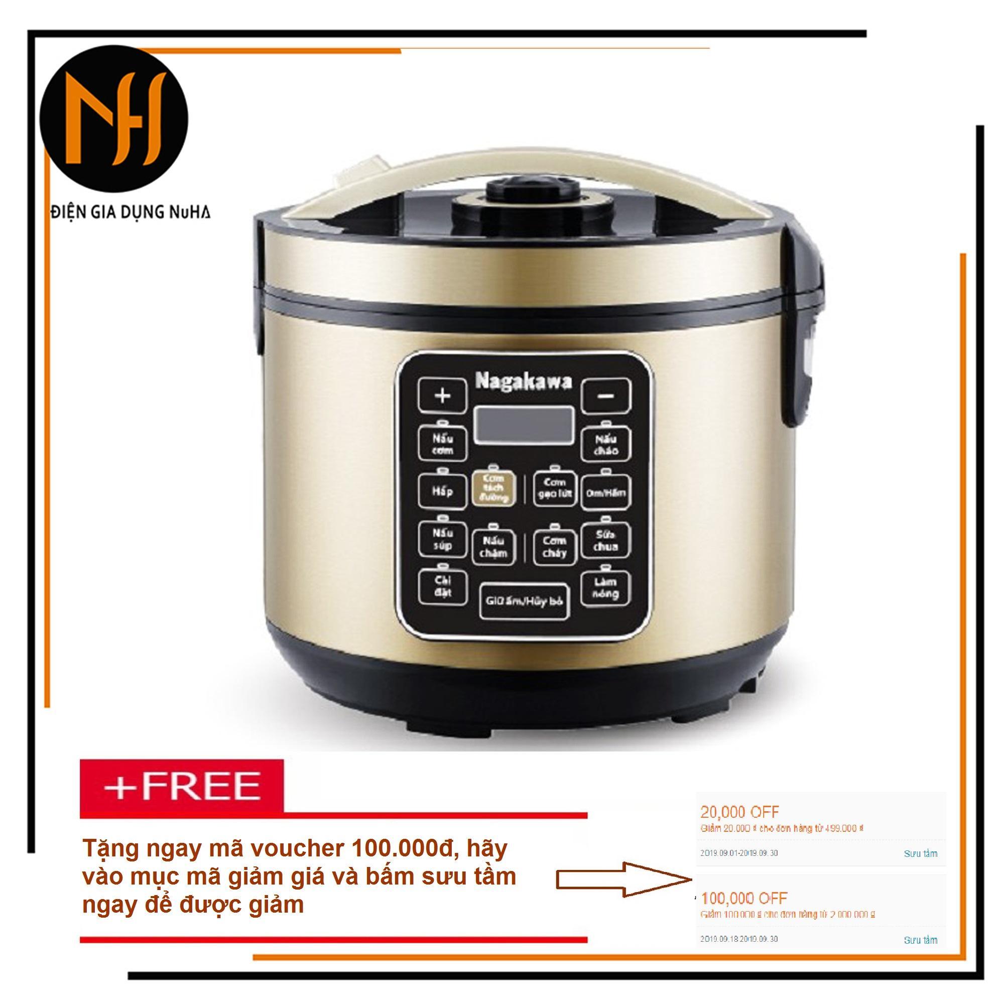 Nồi cơm điện tách đường Nagakawa NA-0120 dung tích 1.8L tốt cho sức khỏe, ngừa bệnh trị bệnh chống béo