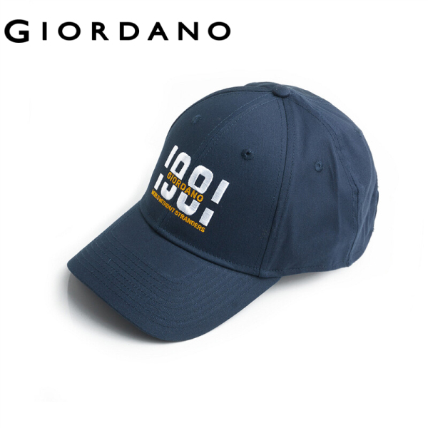 Giordano Men Caps Casual Casquette Men&ampamp#39s Cap Embroidered Graphic Cotton Cool Adjustable Metal Fastener Free Shipping 01209006