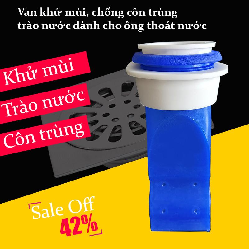 [Sale 42%, silicon cao cấp ] Bộ van ngăn mùi hôi, chống côn trùng, trào ngược nước