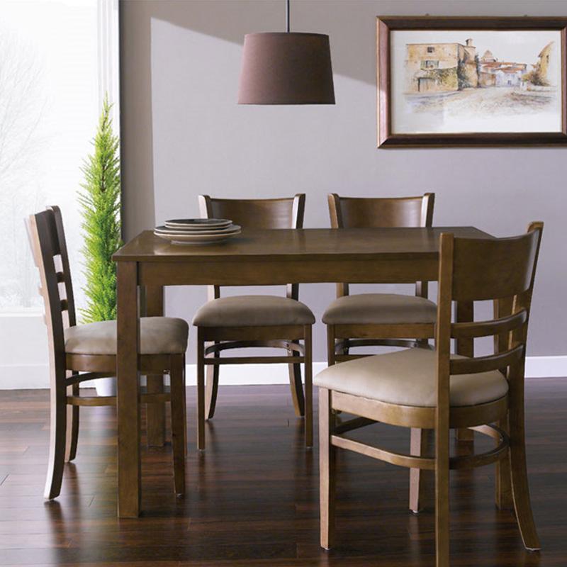 Bộ bàn ăn 4 ghế Ulsan gỗ cao su mặt veneer, gia công tỉ mỉ trau chuốt từng chi tiết ,chất lượng theo tiêu chuẩn xuất khẩu
