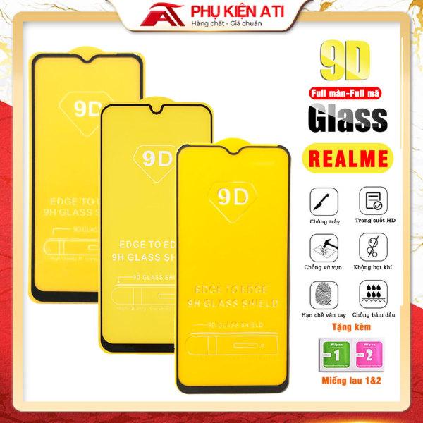 Kính cường lực Realme full màn hình 9D, 9H -  Full dòng Realme 5/ Realme 5s/ Realme 5i/ Realme 5Pro/ Realme 3/ Realme 3Pro/ Realme 2 Pro/ Realme C3/ Realme C2/ Realme 7, 7Pro / C3/ C3i/ C11/ C12/ C15/ C17/ C20/ XT/ X2 Pro- Phụ kiện ATI