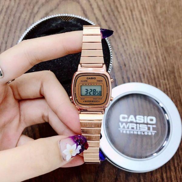 Đồng hồ điện tử dây kim loại CA$IO size 25mm - FULL BOX, đồng hồ chống nước, đồng hồ đẹp bán chạy