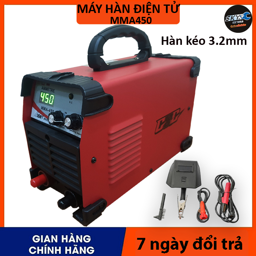 (MÁY SKY -  MMA450 ) Máy hàn điện tử, máy hàn mini, máy hàn que hàn kéo que 3.2mm , máy hàn hồ quang Đầy đủ phụ kiện  SKY và GGG đều cùng 1 dòng máy, chất lượng như nhau
