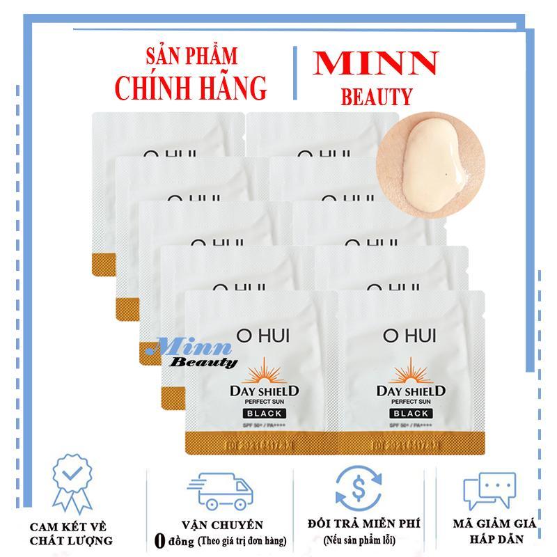 Ưu Đãi Khuyến Mại Khi Mua Combo 10 Sample Kem Chống Nắng Cho Da Bị Sạm Đen Ohui Sun Pro Black SPF50+/PA+++ 1ml X 10