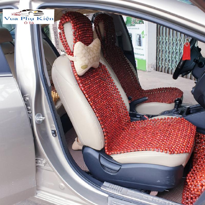 Lót Ghế ô tô Hạt Gỗ nhãn Size 104x45cm - Phụ Kiện Bao Ghế ô Tô, Đệm Lót Hạt Ghế ô Tô