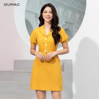 Đầm cổ vest đai eo GUMAC DA9241 thumbnail