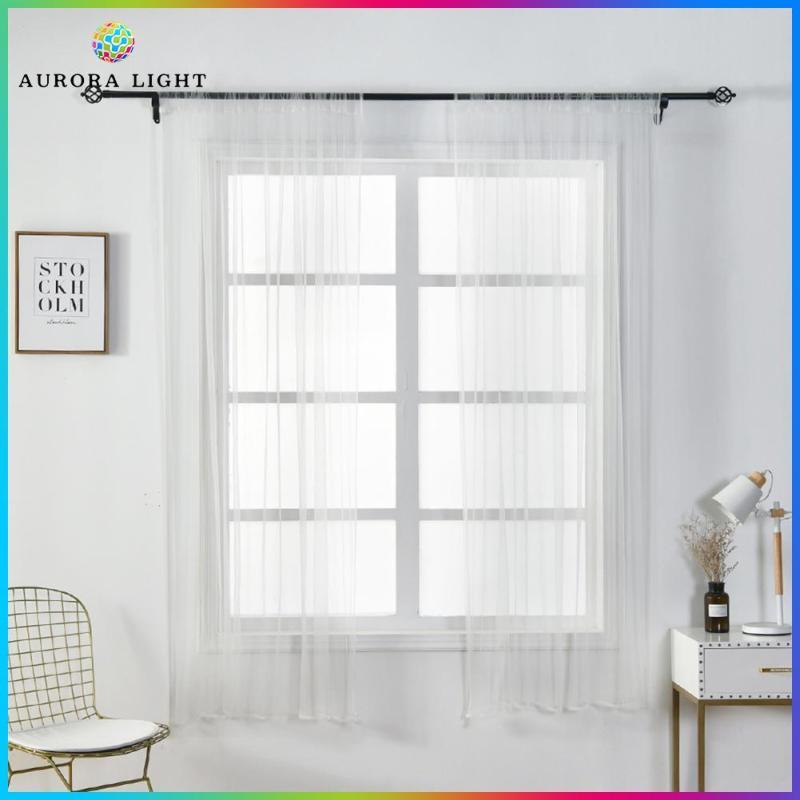 Rèm Cửa Sổ Làm Tối 1X1.5M, Rèm Vải Tuyn Mỏng Dùng Cho Phòng Khách Phòng Ngủ [Gợi Ý Mua Trên 2 Chiếc]