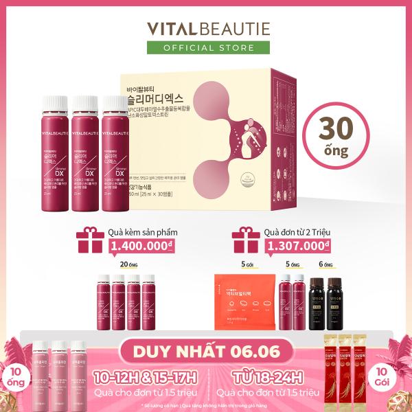 Tinh chất dạng uống giúp giảm béo hiệu quả Vital Beautie Slimmer DX (Hộp 30 ống) giá rẻ