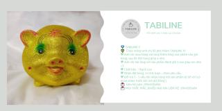 Lợn đất tiết kiệm đựng tiền size NHỠ VIP KIM TUYẾN VÀNG cute đẹp giá rẻ TABILINE LD11 7