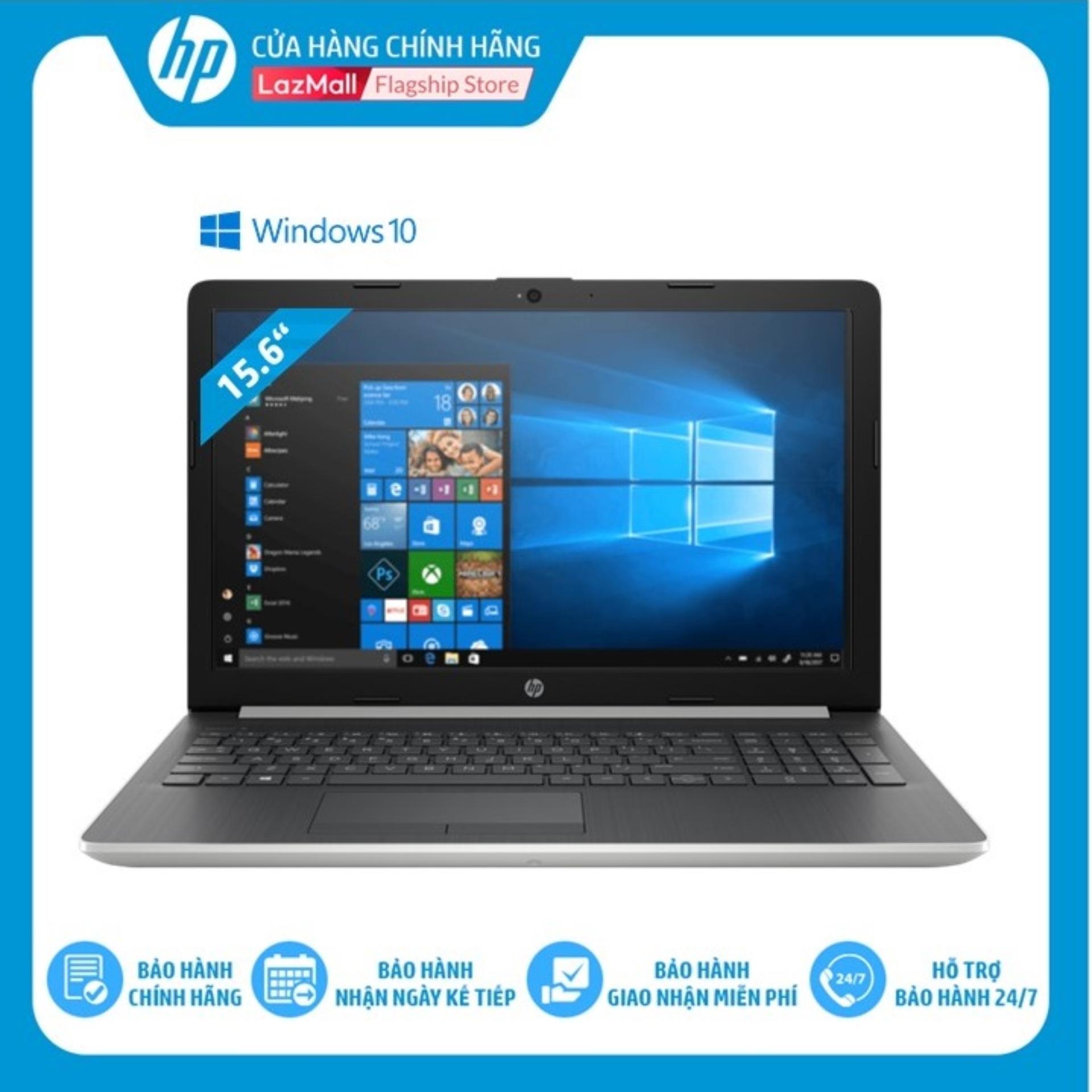 Laptop HP 15-da0051TU (Core i3-7020U /4GB RAM DDR4/500GB HDD/ 15.6 HD/4ME64PA) - Hàng Chính Hãng - Bảo hành 12 tháng