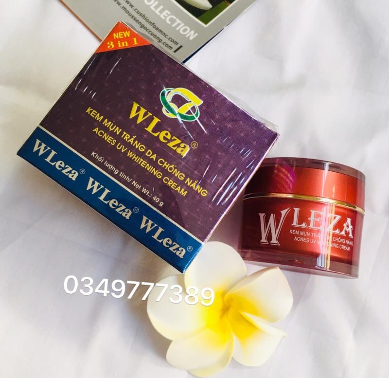 Kem ngừa mụn trắng da chống nắng Wleza 40g giá rẻ