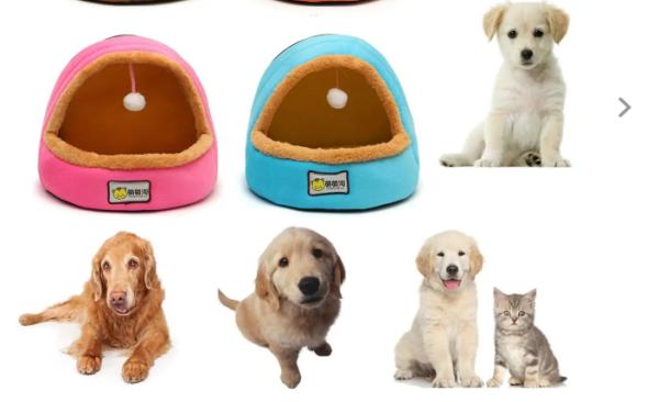 Giường có thể gập lại cho chó mèo, thú cưng, Pet House Lều Tất cả các mùa có thể giặt đệm - Blue