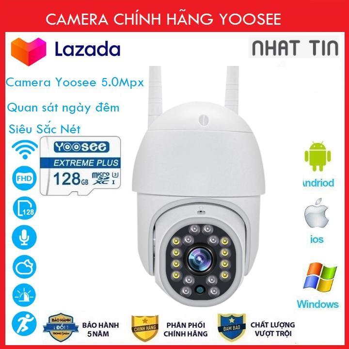 ( Combo Camera Thẻ 128GB Yoosee Bảo Hành 60 Tháng ) Camera wifi Ptz Xoay 360 Độ chuẩn 3.0 dùng ngoài trời - trong nhà mpx full hd 1080p - hỗ trợ 8 đèn hồng ngoại và 6 đèn led + tặng thẻ xịn 128 yoosee cho mã 520k và không thẻ với mã 420k