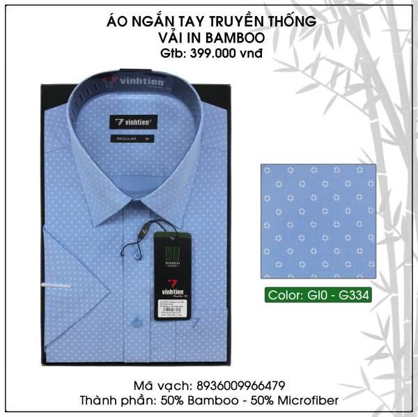 Áo Sơ Mi Nam Bamboo Ngắn Tay Dáng Regular Vĩnh Tiến G334