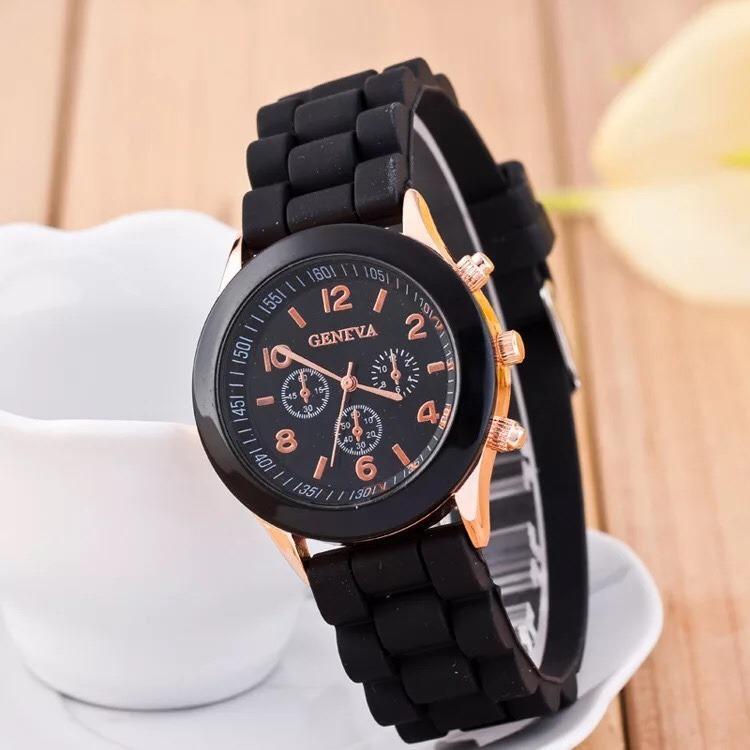 (Có hộp, bảo hành 1 đổi 1) Đồng hồ Geneva dây silicon thời trang, Đồng hồ Khởi My - ODH0022 Nhật Bản