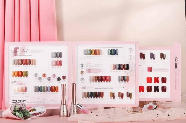 Set sơn móng xuất sứ nhật bản 108 màu tặng kèm bảng màu và base top giá rẻ
