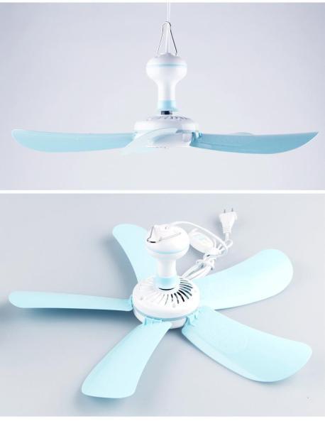 Quạt treo trần Mini 5 cánh (Trắng phối xanh)