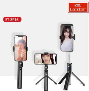 Gậy Chụp Ảnh quay phim 3 Chân kết nối Bluetooth Earldom ET-ZP16 Có độ dài từ 18,5 đến 67cm, có thể xoay thẳng đứng máy ảnh để có được góc chụp tốt hoặc, livestream một cách thuận tiện ( BẢO HÀNH UY TÍN 12 THÁNG) thumbnail
