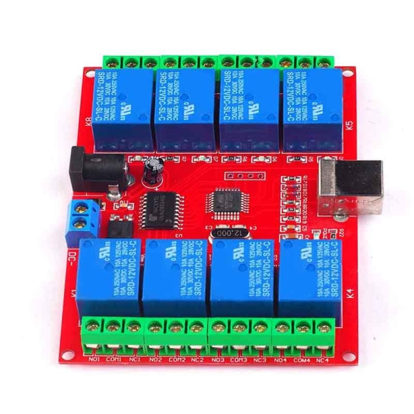 Bảng giá Drive Free USB Control Switch 8-Way 12V Relay Module Computer Control Switch PC Intelligent Control Phong Vũ